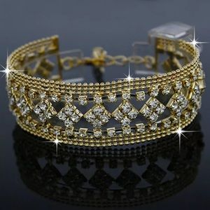 Jewelry - ❤️gorgeous designer gold rhinestone bracelet